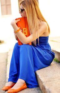 Laranja e azul arara (chiquééérrimo)