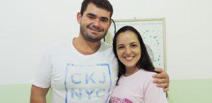 Dr. Bruno Tavares e Roberta Léllis, respectivamente médico e enfermeira da ESF (Piúma). A simpatia no atendimento é contagiante ##