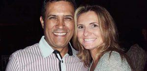 Um abraço nesse casal nota 10 de Piúma. Átila Candido Soares e Val Briolli.